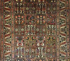 Blossoming Bakhtiari - 1930s Antique Persian Rug - Panel Garden - 5.7 x 9.11 ft.