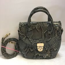 LIZ CLAIBORNE FAUX SNAKESKIN SHOULDER BAG PURSE HANDBAG REMOVABLE STRAP GRAY