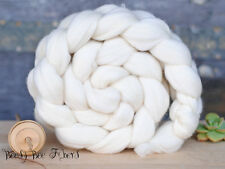FRENCH RAMBOUILLET Undyed Ecru Combed Top Wool Roving Spinning Felting fiber