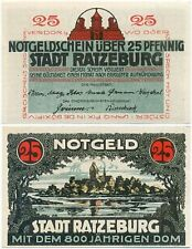 Ratzeburg, 1 Schein Notgeld 1921, 800 jähriger Dom, 25 Pfennig