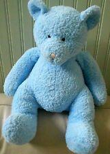 "Russ Berrie Baby Boy Blue BEAR Rattle Plush Stuffed Animal SNOOKIE Love Toy 16"""