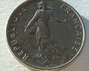 "1967 France 1/2 Franc Coin Signature ""O. Roty"""