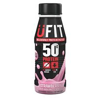 A UFIT Pro 50 High Protein Shake Drink RTD Strawberry Flavour 6 X 500ml