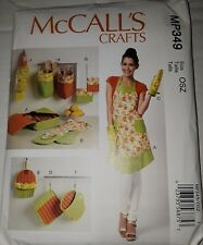 McCall's MP349 Apron  Kitchen Accessories Mitts organizer  Sewing Pattern   NEW