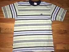 HANG TEN 10 Vtg 80's Gold Label MINT GREEN Stripe SURF Surfer op T Shirt S/Med