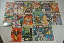 Wolverine #2-6 9 11-17 24-26 (Marvel Comics, 1988-1990) Lot of 16 9.0