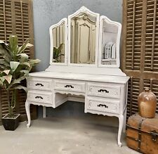 More details for sandblasted vintage french dressing table / shabby chic style