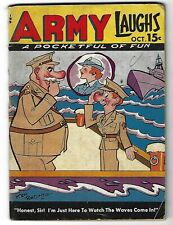 Army Laughs Vol. 4 No. 7 Oct. 1944 - Ken Browne cover - Bill Wenzel covers