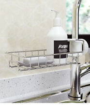 Drain Rack Storage Holder Shelf-Kitchen Sink Faucet Sponge Soap Cloth