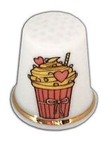 Personalised Vintage Milkshake China Thimble, Wedding Anniversary Engagement
