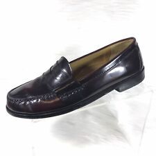 Cole Haan Mens Loafers Burgundy Leather Size 9.5 D