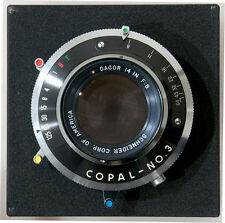 "Goerz Dagor Gold Dot14"" 355mm lens in Copal #3 shutter"