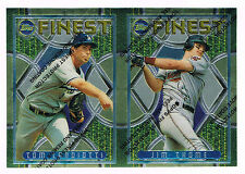 Rare 1995 Topps Finest UNCUT DOUBLE PROOF - Jim Thome Indians - Tom Candiotti