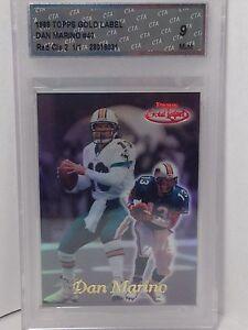 1999 Topps Gold Label Dan Marino #40 Dolphins Red Class 2 CTA 9 SSP True #1/1