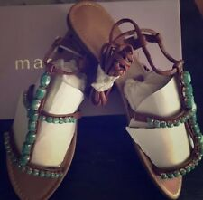 *** NWB Madden Girl Jeweled Tie Up Sandals 8.5 ***