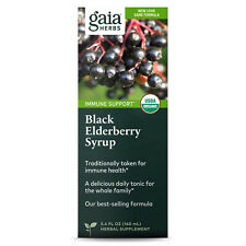 Gaia Herbs Rapid Relief Immune Support Black Elderberry Syrup, 5.4 Ounces