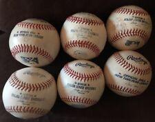 Lot Of 6 Game Used Baseballs Major & Minor Leagues New York Mets Yankees