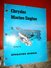 1971 CHRYSLER 125 M265A MARINE ENGINE ORIGINAL OPERATING MANUAL OPERATORS OWNERS