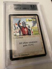 Mtg Magic The Gathering Alpha Crusader Bgs 8.5