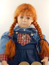 "Donna RuBert 30"" Bisque Porcelain ""Crystal"" 1991 Designer Doll w/Red Hair"