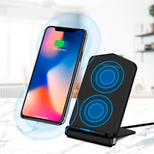 Q200 Fast Wireless Qi 10W Foldable Phone Holder Desk Charger for Androids & iPho