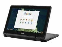 "Dell Chromebook 5190 Refurbished 2 in 1 Laptop 11.6"" Touchscreen Laptop 32GB SSD"