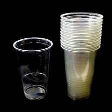 6bcba460d83 24x Disposable Cups Drinking Glasses Pint Tumbler Clear Plastic Birthdays  Party
