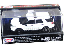 MOTORMAX 79476 2015 FORD POLICE INTERCEPTOR UTILITY 1/43 UNMARKED WHITE