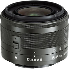 Canon Ef-m Camera Zoom Lens for EOS M 15-45mm F/3.5-6.3 Is STM Graphite 0572c005