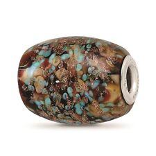 Reflection Beads .925 Silver Handmade Glitter Desert Sunset Fenton Glass Bead