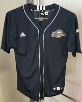 Prince Fielder Milwaukee Brewers #28 MLB Baseball Jersey Navy Blue Youth L 14-16
