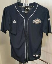 Prince Fielder Milwaukee Brewers #28 MLB Baseball Jersey Navy Blue Youth L 14-16