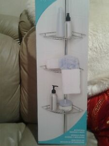 New bathtub & shower caddy rust resistant chrome finish up to 8ft 1in