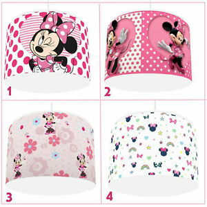 """MINNIE MOUSE PINK CEILING LIGHT LAMP SHADE 4 DESIGNS IN 2 SIZES 10"""" 12"""""""