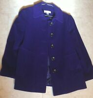 🔥Preston & York Purple Wool Coat Women's Petites 6P