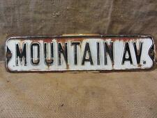 Vintage Embossed Mountain Ave Road Street Sign > Antique State County Signs 9618
