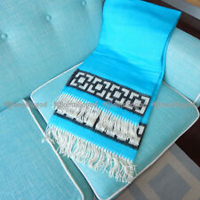 JONATHAN ADLER NEW Baby Alpaca Turquiose Nixon Border Blanket Throw 60 x 60