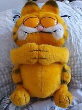 Super Rare Garfield Plush 80s Dakin Soft Toy Sleeping Garfield Eyes Closed