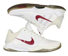 NIKE Zoom Kobe V Basketball Shoes sz 7 Lower Merion Edition White Burgundy Aces