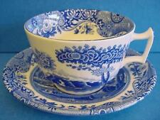 SPODE BLUE ITALIAN BREAKFAST CUP & SAUCER MADE IN ENGLAND 1st QUALITY