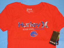 NWT Hurley BOISE STATE BRONCOS T-Shirt Women Sz S Orange Perfect Crew