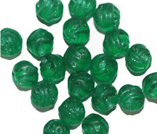 Matte Teal Knot Czech Pressed Glass Beads 8mm (pack of 20)