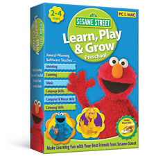 Sesame Street Learn, Play & Grow PC/MAC Video Game Kids Educational Learning