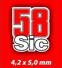 1 Adesivo Stickers SIMONCELLI 58 Super Sic medio