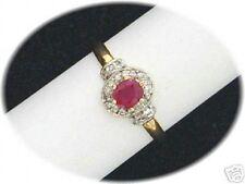 Anillo de mujer rubin/Diamante oro bicolor VK EUR 698,-