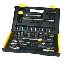 "STANLEY-Set Cassetta 50 bussole Professionale 1/4""+1/2"" valigia attrezzi1-94-658"