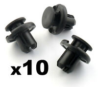 10x 10mm Push Fit Honda Bumper Grille & Engine Under Tray Trim Panel Clips