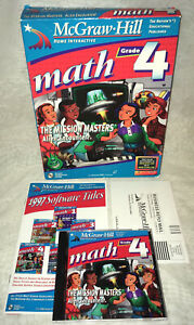 McGraw Hill Math Grade 4 The Mission Masters: Alien Encounter! PC-CD Complete!