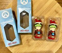 Set Of 2 Over Watch Jingle Tracer Exclusive Holiday Ornaments Gamers Brand New.