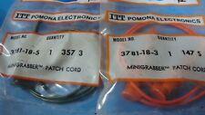 "pomona 3781-18-3, 3781-18-5 18"" mini grabber test clip each end (1orange 1green)"